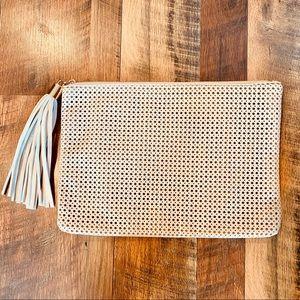 URBAN ORIGINALS Vegan Leather Perforated Clutch